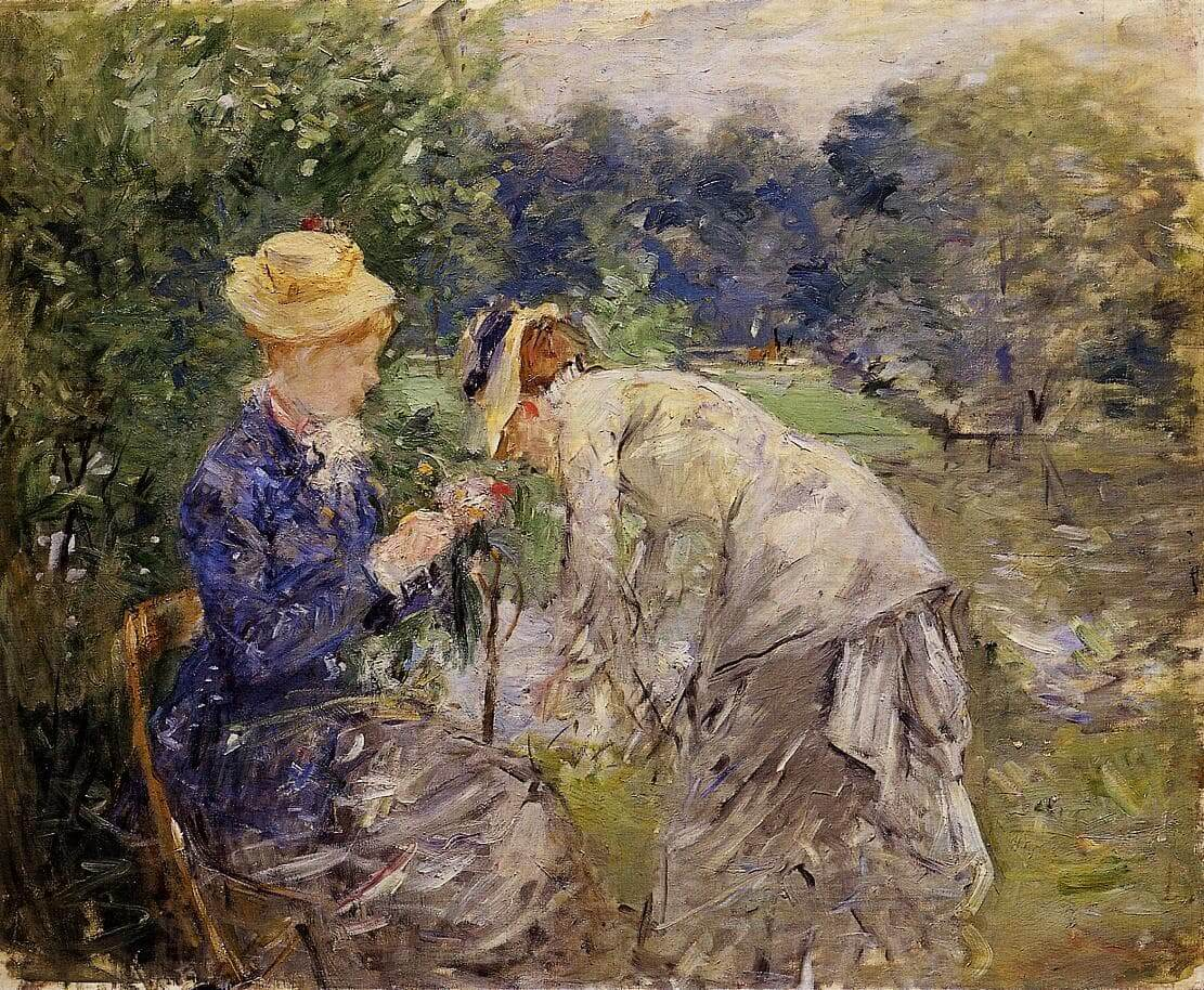 «En el bosque de Boulogne», de Berthe Morisot